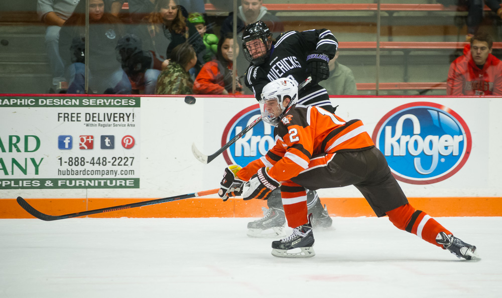 Four Goal 2nd Period Dooms Falcons in 6-1 Loss
