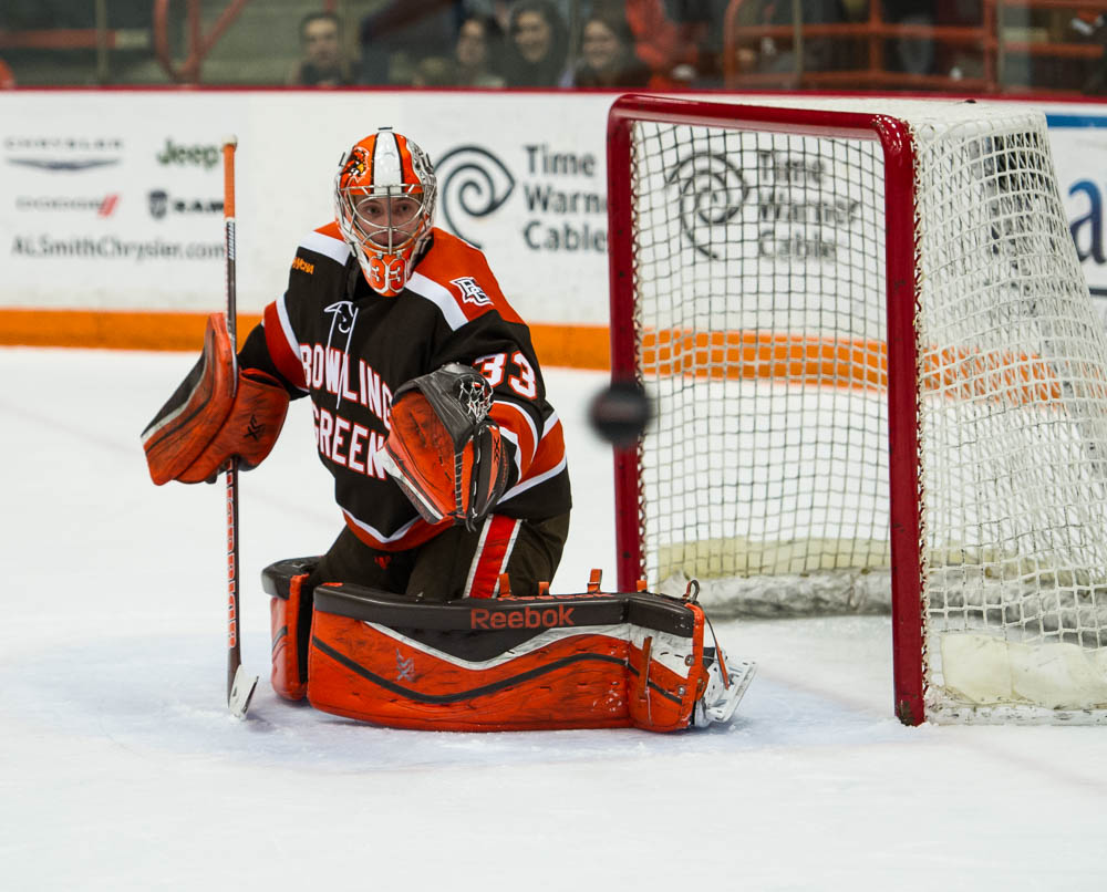 Falcons' Nell becomes national leader in save percentage